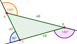 ángulos Exteriores De Un Triángulo Geometría Plana Triangulos Geometría