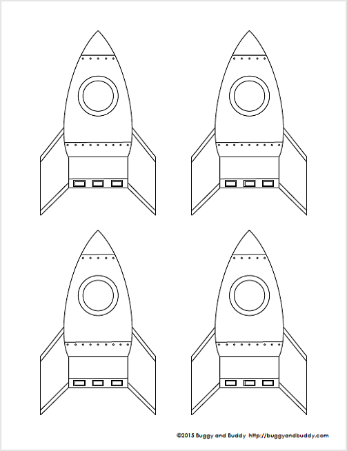 STEM for Kids: Straw Rockets (with Free Rocket Template