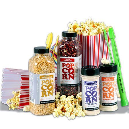 Popcorn Lovers/Night At The Movies Gift Basket Stack - http://mygourmetgifts.com/popcorn-loversnight-at-the-movies-gift-basket-stack/