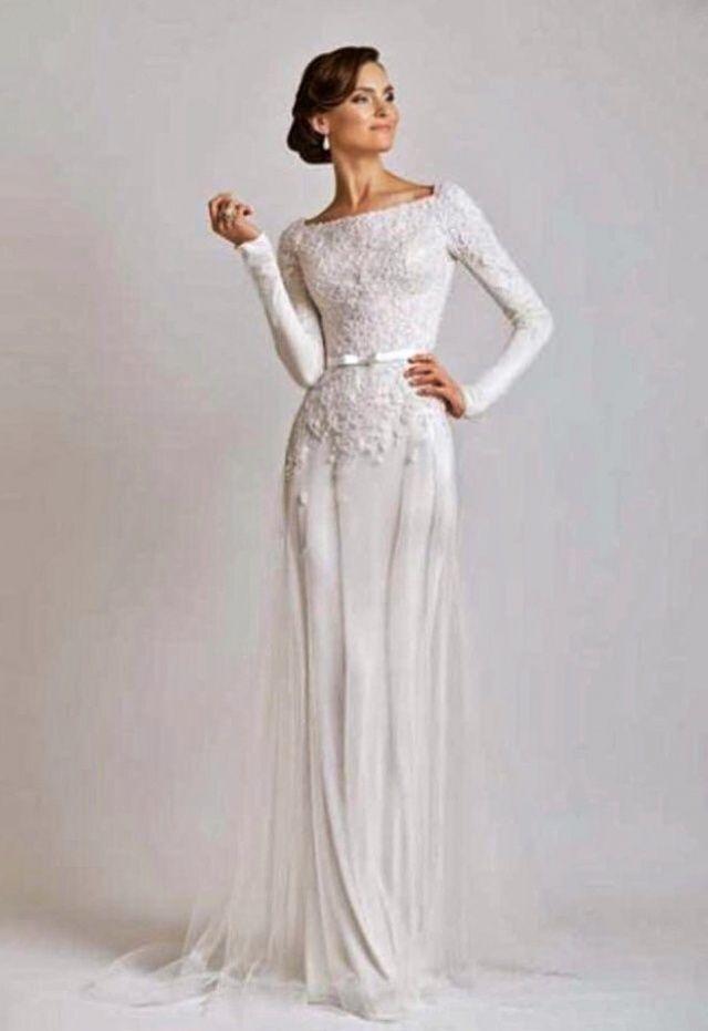 2020 Ve Uzun Kollu Gelinlik Modeli M 2238 Vestidos Vestido De Casamento Casamento
