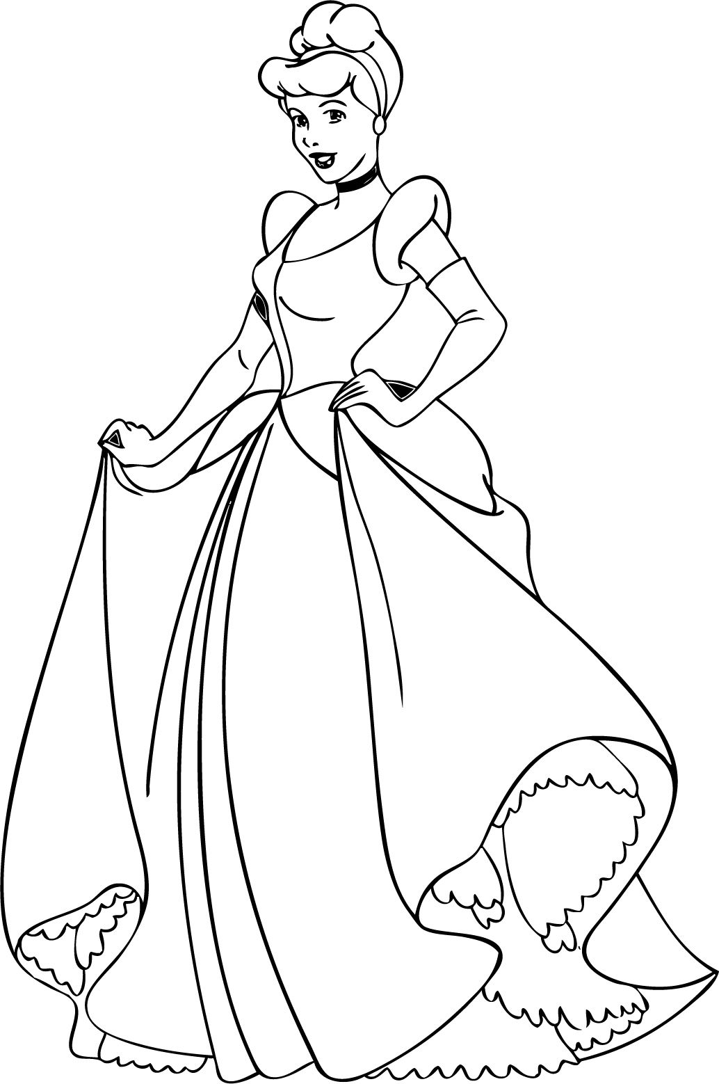 Cinderella Coloring Pages 06 | Disney Coloring Pages and Embroidery ...