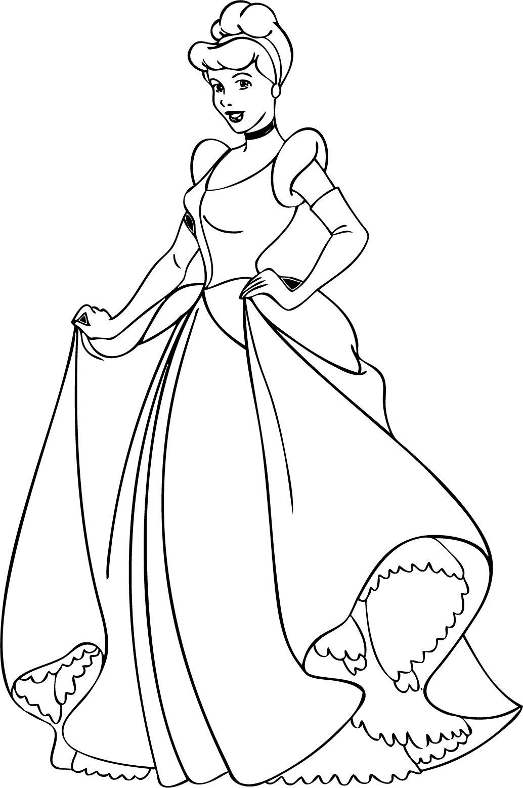 Cinderella Coloring Pages - ColoringPageSS | Cinderella ...