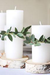 Minimalistische & festliche Tischdekoration zu Weihnachten