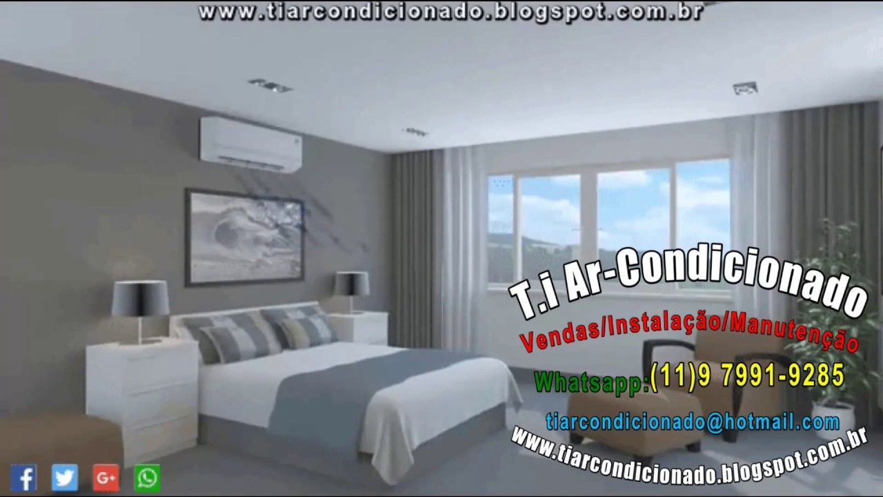 T I Ar Condicionado Split Quarto Ar Condicionado Split  ~ Quarto De Casal Azul E Ar Condicionado Quarto