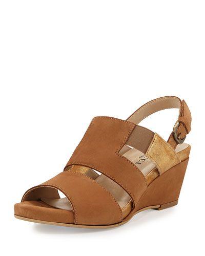 S0M57 Sesto Meucci Kaleo Leather Wedge Sandal, Viso