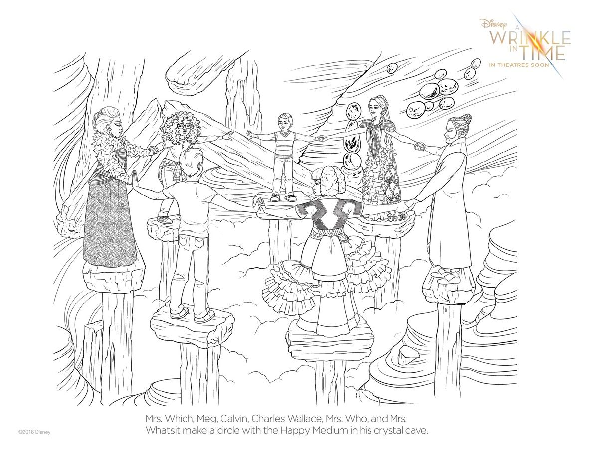A Wrinkle In Time Coloring Pages And Activity Sheets | Printables ...