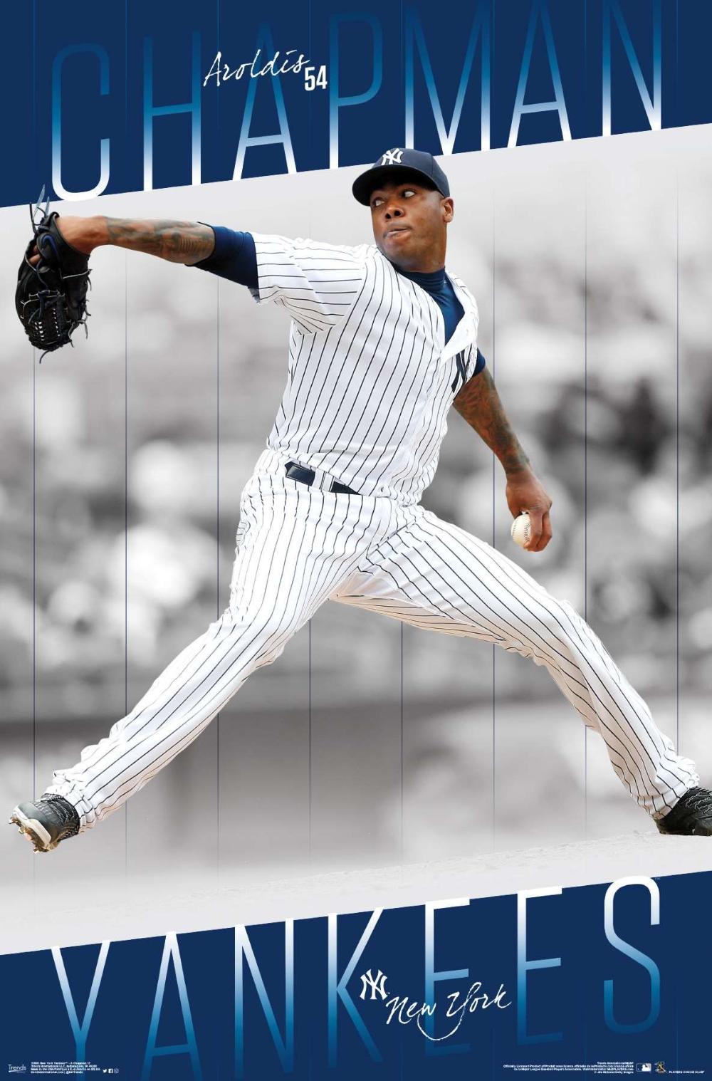 Mlb New York Yankees Aroldis Chapman 17 In 2020 New York Yankees Baseball Yankees Poster Aroldis Chapman