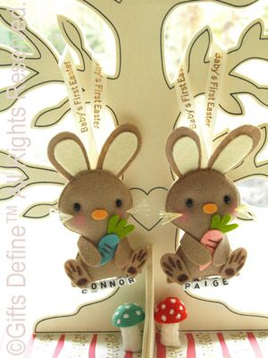 Conejitos de fieltro manualidades pinterest unique baby babys first easter bunny personalized easter gift ornament custom made easter bunny unique easter gift easter party favors easter baby negle Images