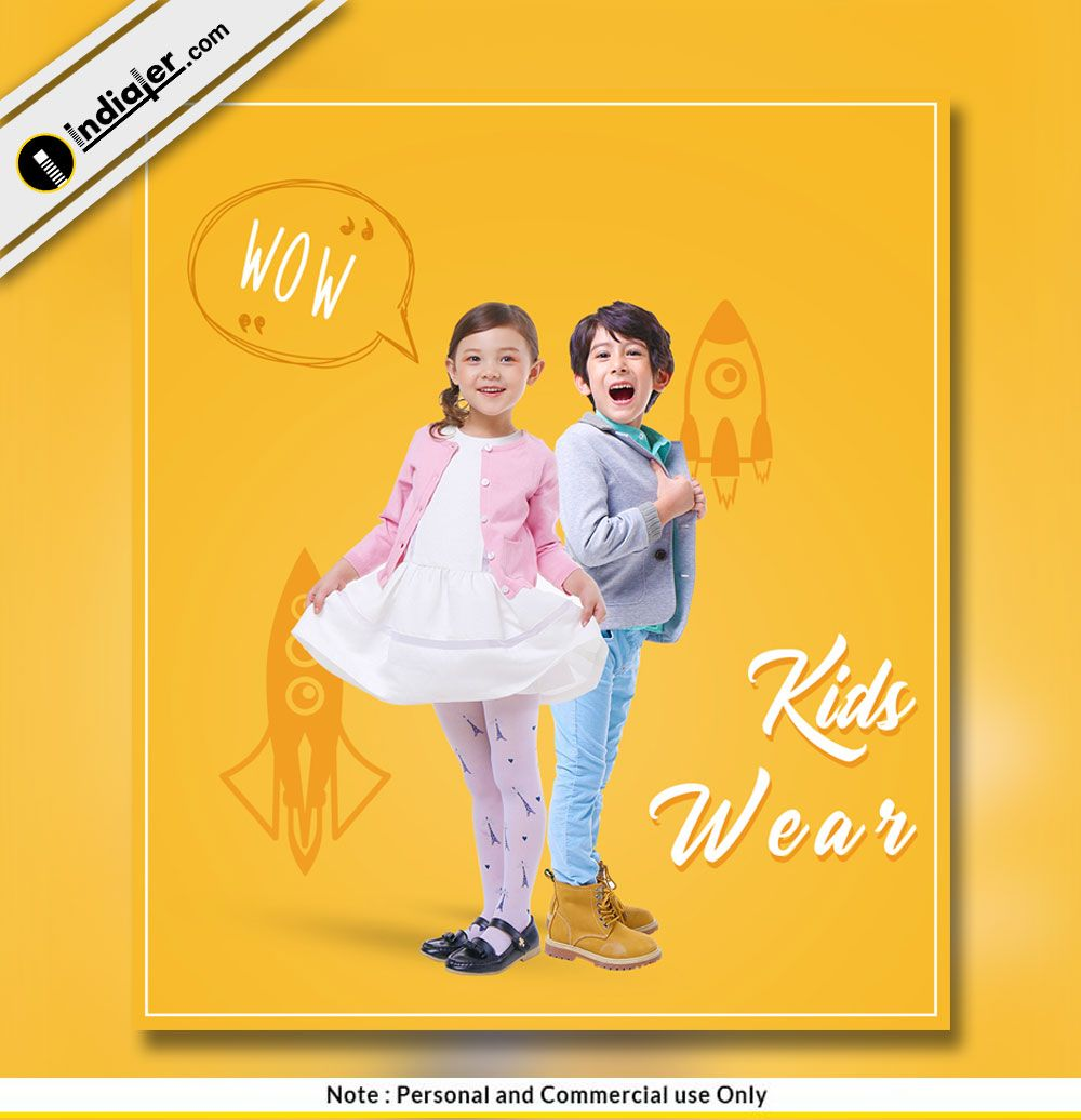 Live For Fashion Flyer Template Psd File: Kids Fashion Free PSD Template