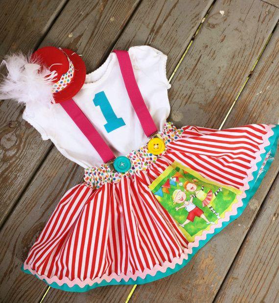 Josefina Birthday Dress: Baby Girls Outfit, Girls Circus Dress, Baby Girls Clothing