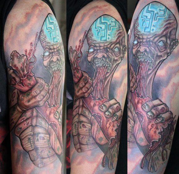 Alien Tattoos And Designs Page 7 Tattoos Alien Tattoo Tattoo Sleeve Designs