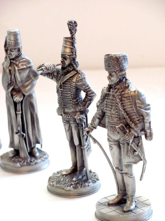 Vintage Pewter Soldiers by Bluemooncollection on Etsy, $120 00