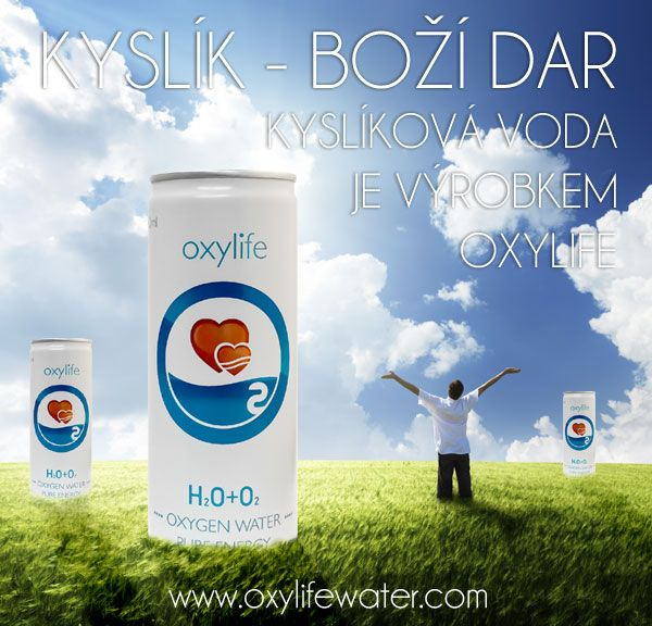 Kyslik - Bozi dar. Kyslikova voda je vyrobkem Oxylife. Oxygen water made by Oxylife Czech republic