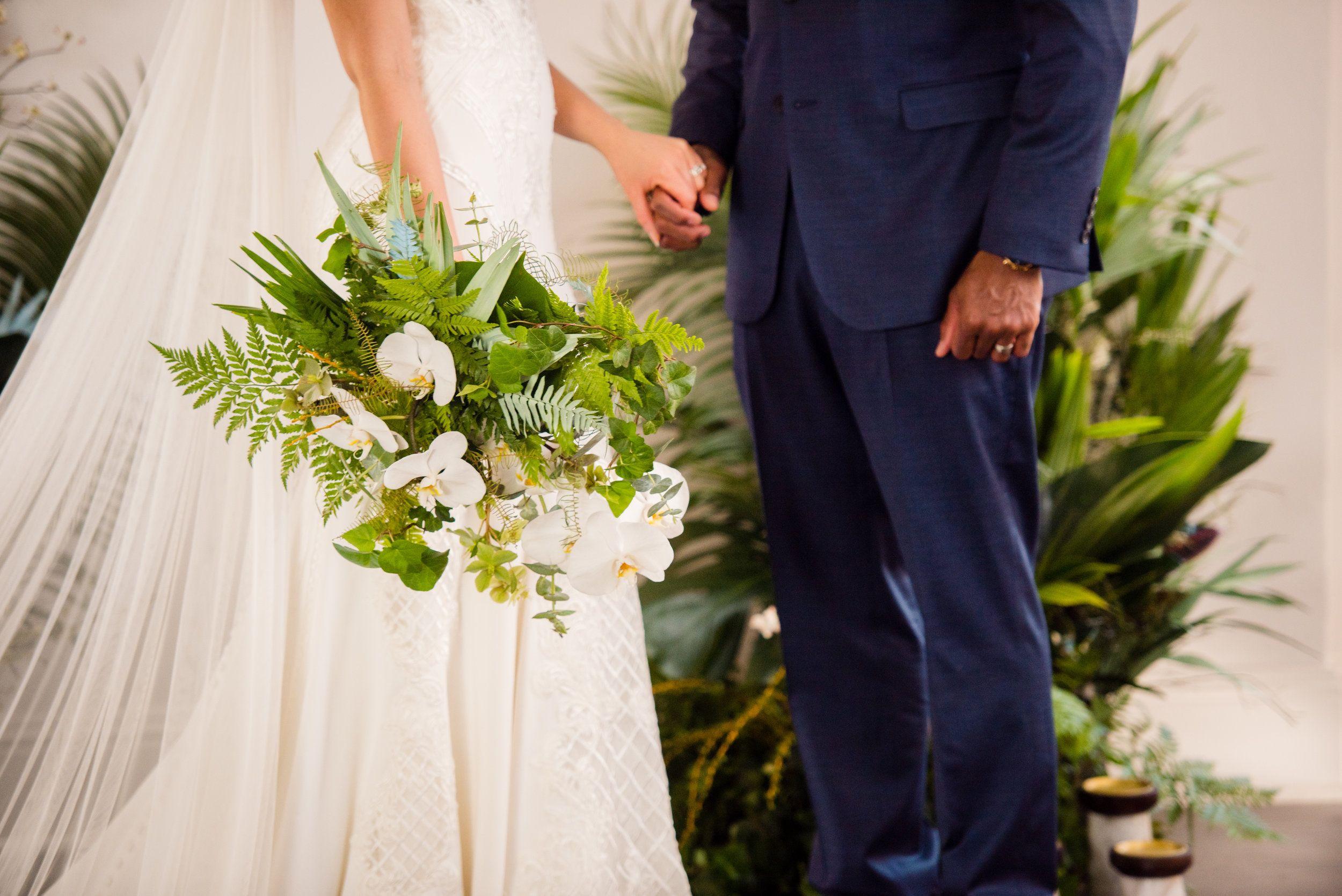 Those textures! The bouquet, the dress details, the veil