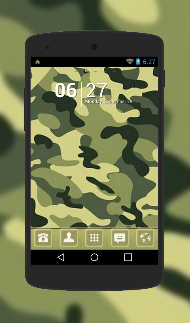 """Camuflage"" Android Theme. Free download  http://androidlooks.com/theme/t0644-camuflage/  #android, #themes, #customization, #goLauncher"