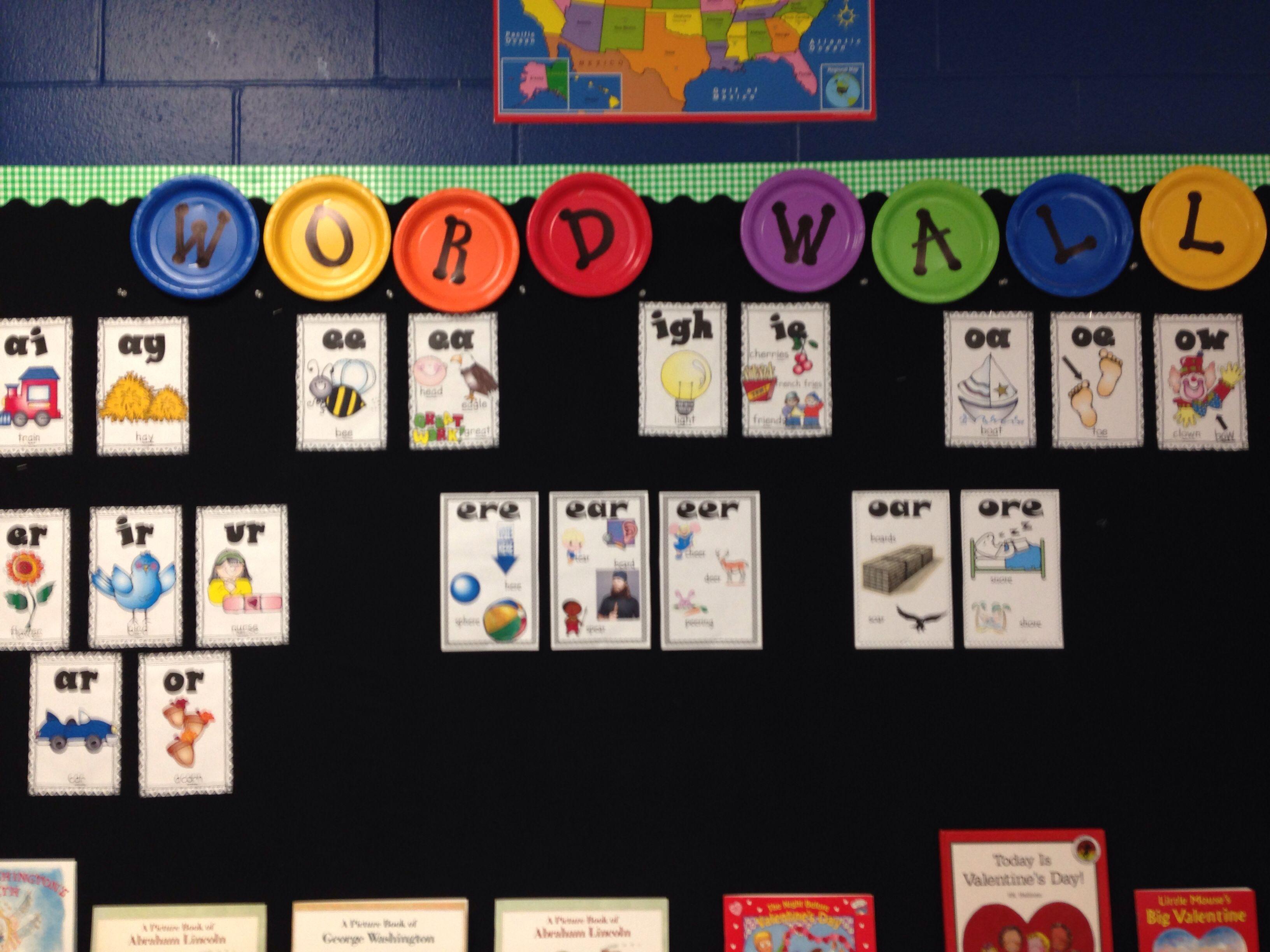2nd Grade Word Chunk Wall