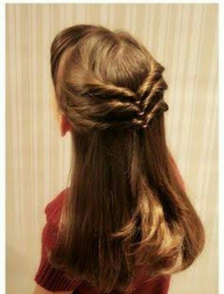 Back Twist And Turn Open Hair Hairstyle With Side Fringes Misbaafroz Hair Styles Little Girl Hairstyles Easy Little Girl Hairstyles