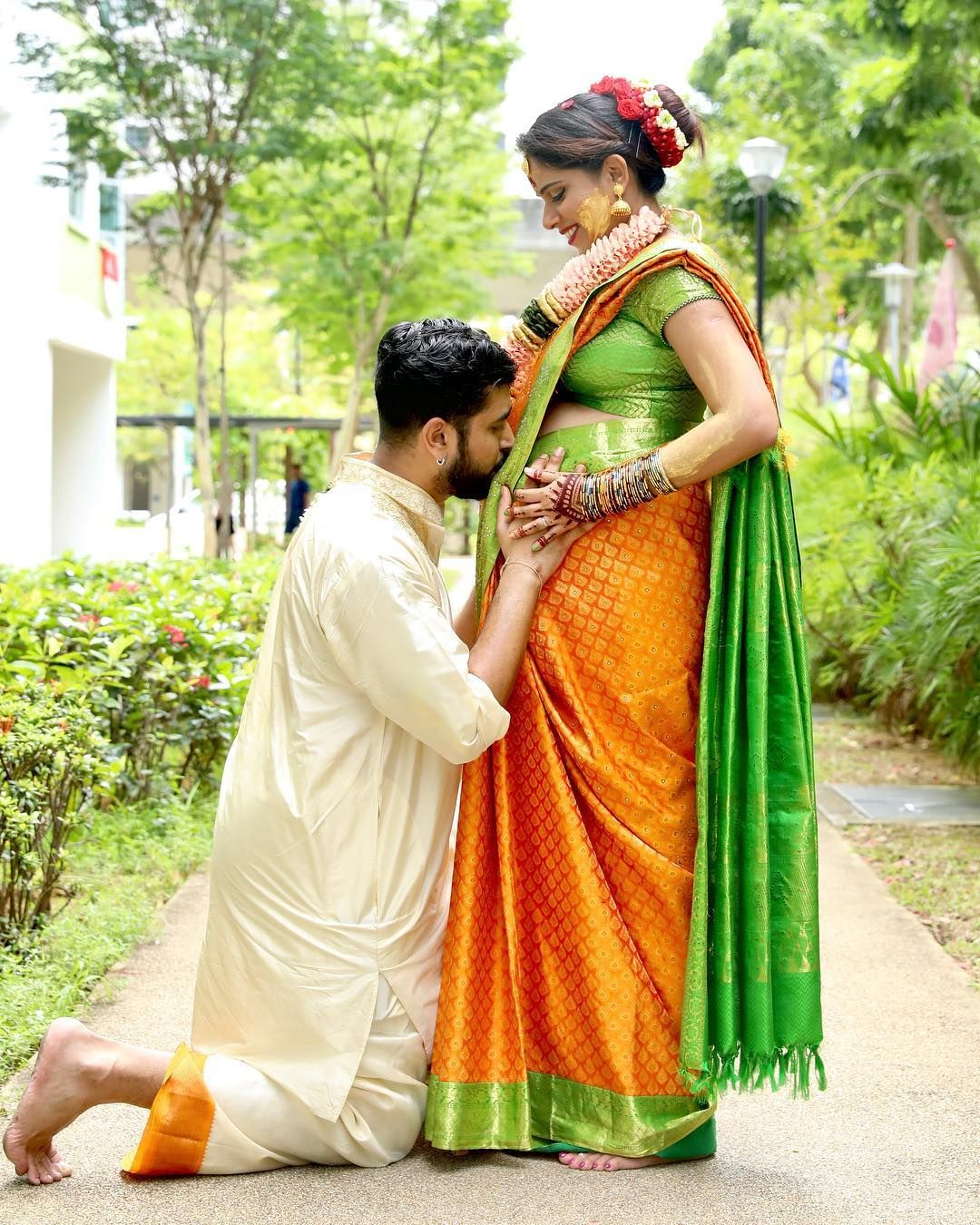 Valaikappu Outdoors Baby Shower Photography Poses