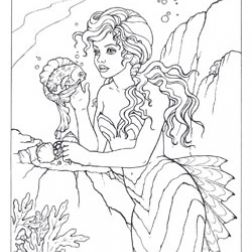 Mermaid Coloring Pages Felicia