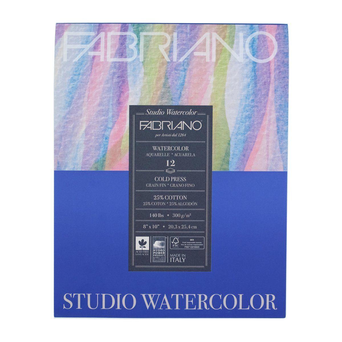 Fabriano Studio Cold Press Watercolor Pad Watercolor Watercolor