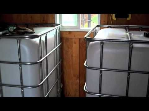 RainWater setup, rain barrel, water storage