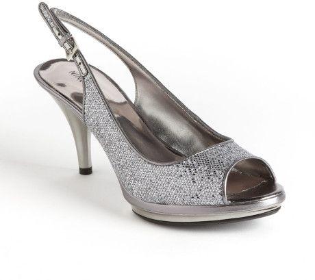 Silver Nine West Heels