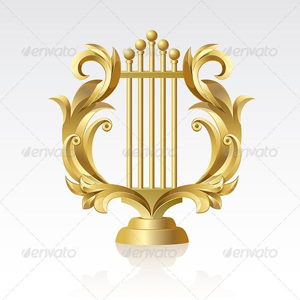 Lyre   #GraphicRiver         Golden Golden Lyre on a white background on a white background. Vector illustration, only simply linear and radial gradients used – no blends, gradient mesh used – vector available RGB colors. EPS file is editable in Adobe Illustrator Included files: .ai (CS5), .eps (8 version), high-resolution .jpg (5000?5000 pixels)     Created: 14June13 GraphicsFilesIncluded: JPGImage #VectorEPS #AIIllustrator Layered: Yes MinimumAdobeCSVersion: CS Tags: art #design #elegance…