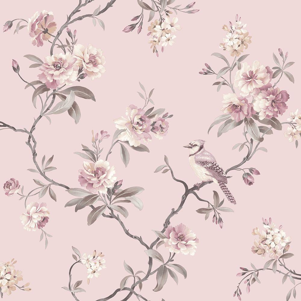 Chinoiserie Bird Wallpaper Pink Fine Decor Fd40766 Decor