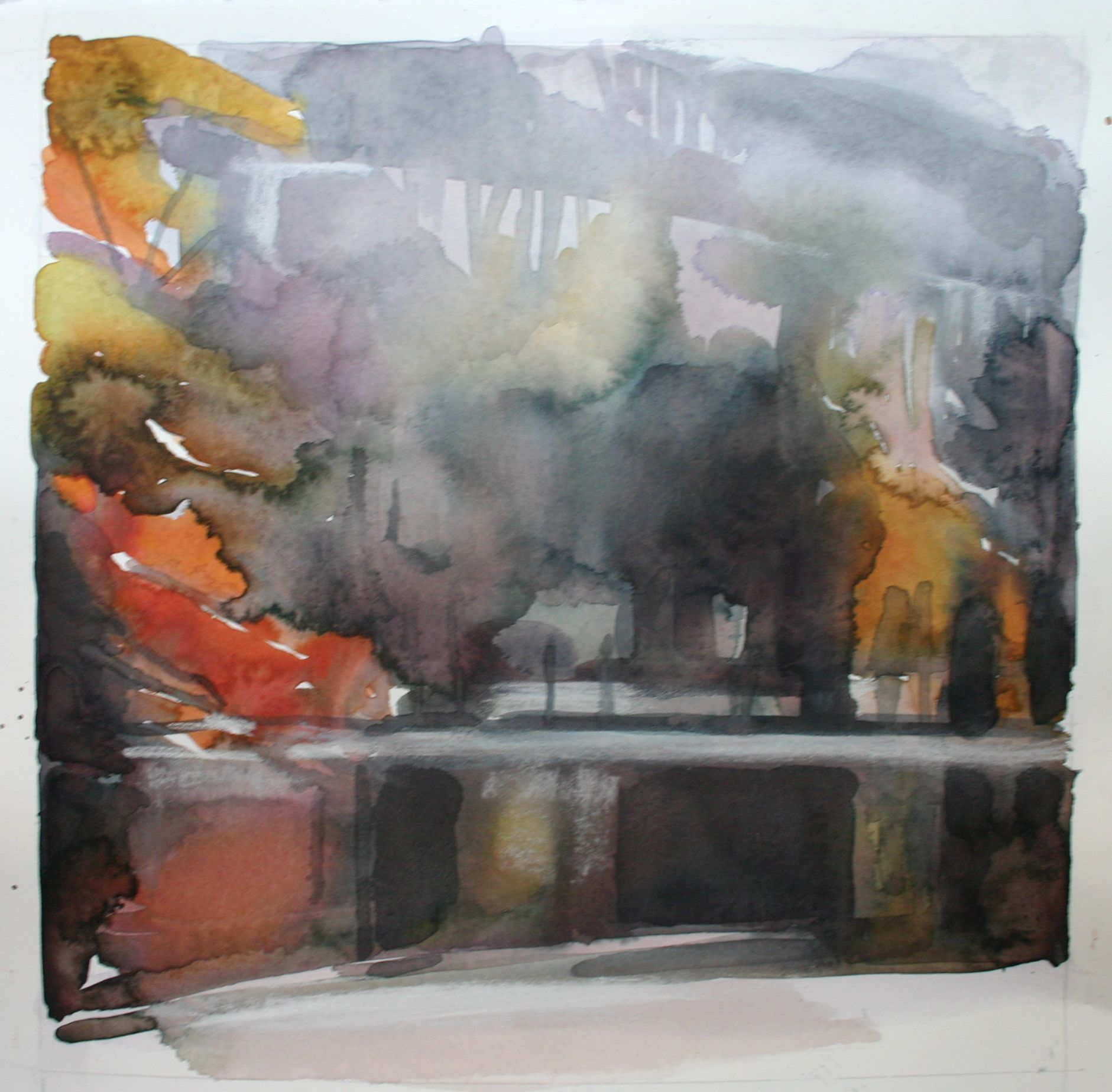 The Pogue, Woodstock, Vermont II,  watercolour on paper,  Rebecca Ryland