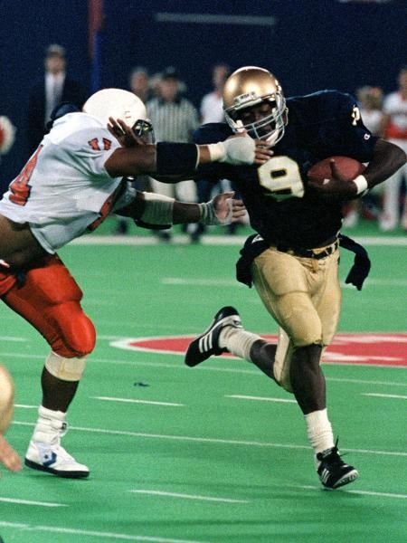 Tony Rice, Notre Dame | College football, Vintage football ...