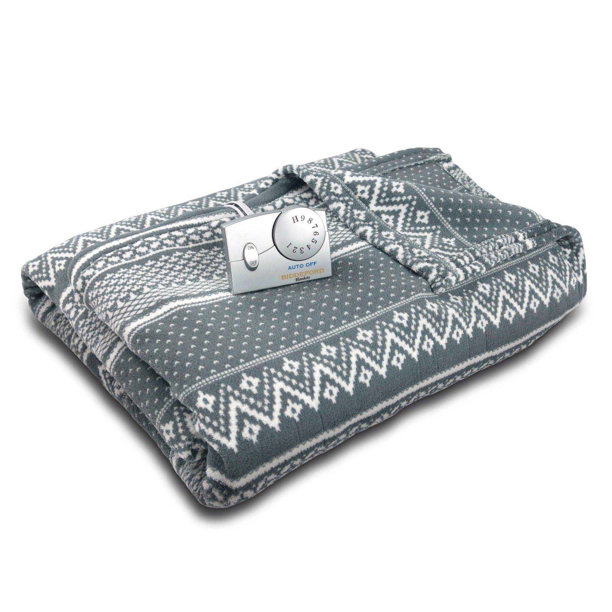 Many Styles Electric Fleece Blanket Heated Quilted Warm Winter Bed Zebra Black