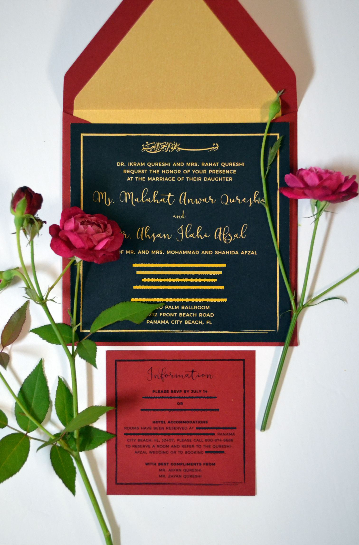 Wedding Invitations Pakistani Indian Muslim Hindu Invites