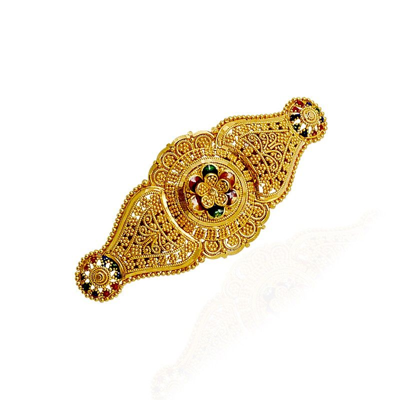 Collections Flower Designs Gold Hair Clip