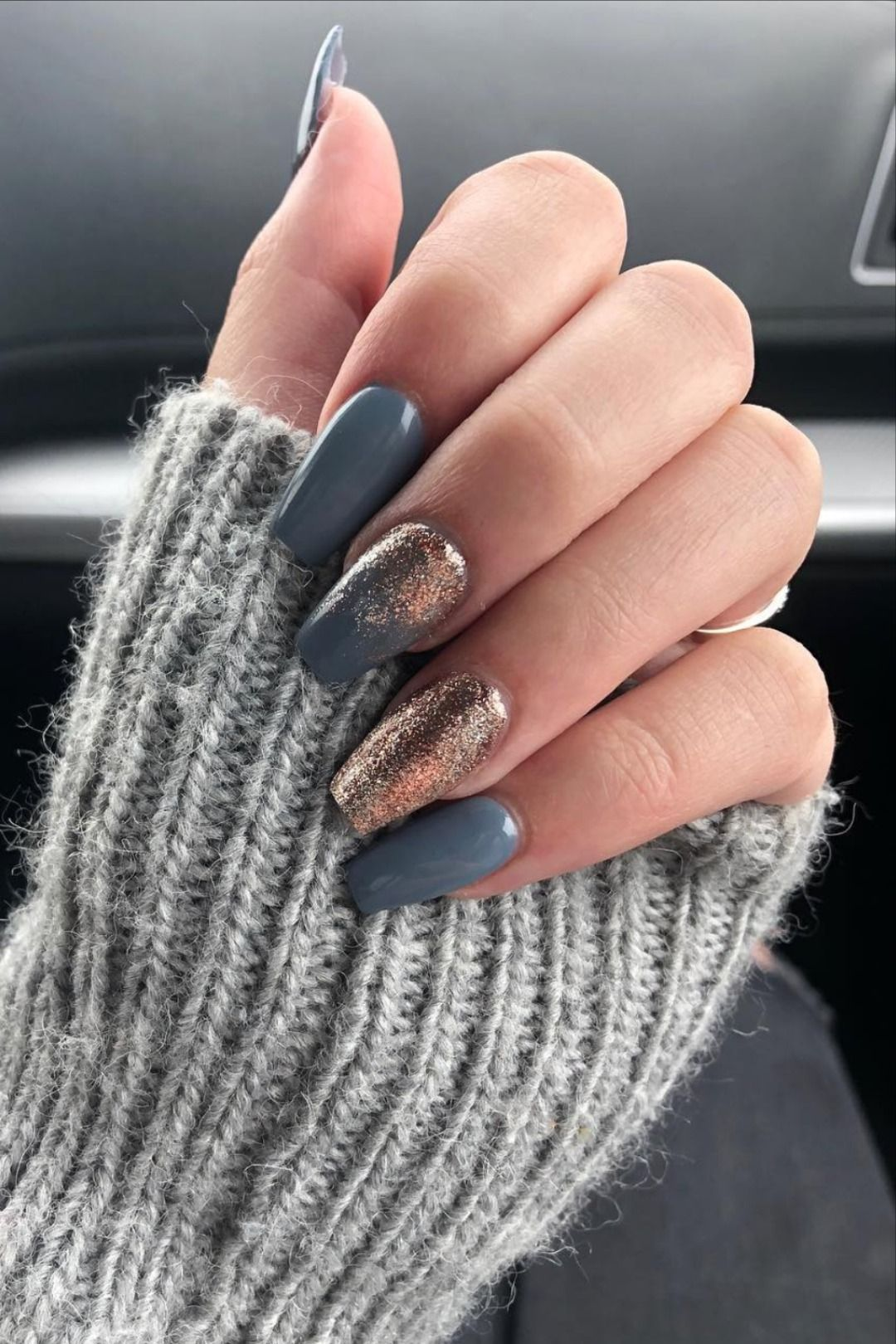 The Best Gray Nail Art Design Ideas In 2020 Grey Nail Art Gray Nails Coffin Shape Nails