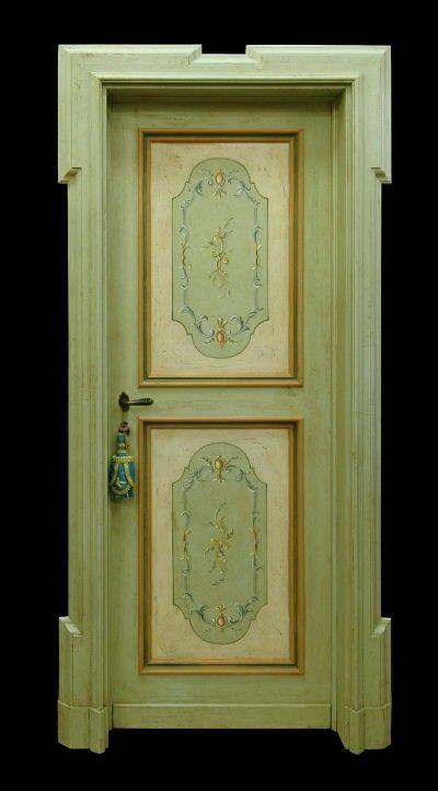 Reproduction of Antique Italian Painted Door & Reproduction of Antique Italian Painted Door | DRZWI MALOWANE ...