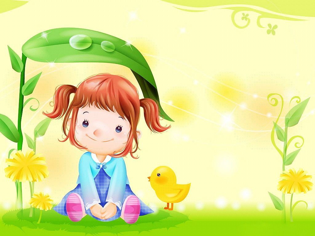 cute girl cartoon paint wallpaper free download 2392033 wallpaper - Kids Images Free Download