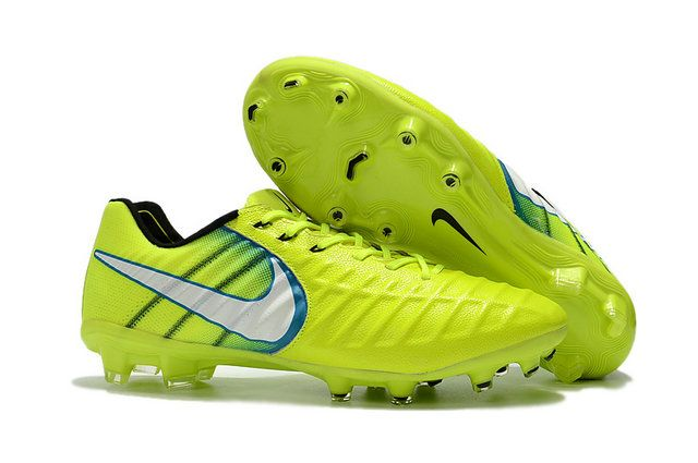 6401d7e58709 Nike Flyknit Tiempo Legend Vii Fg Yellow White Black s Football Boots For  World Cup Online