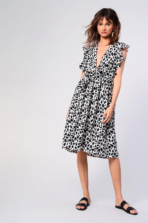 d7379f152c63 **Leopard Print Midi Dress by Glamorous - Dresses - Clothing - Topshop