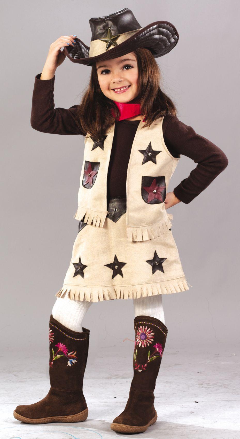 Child Wild West Costume Cowgirl Cutie