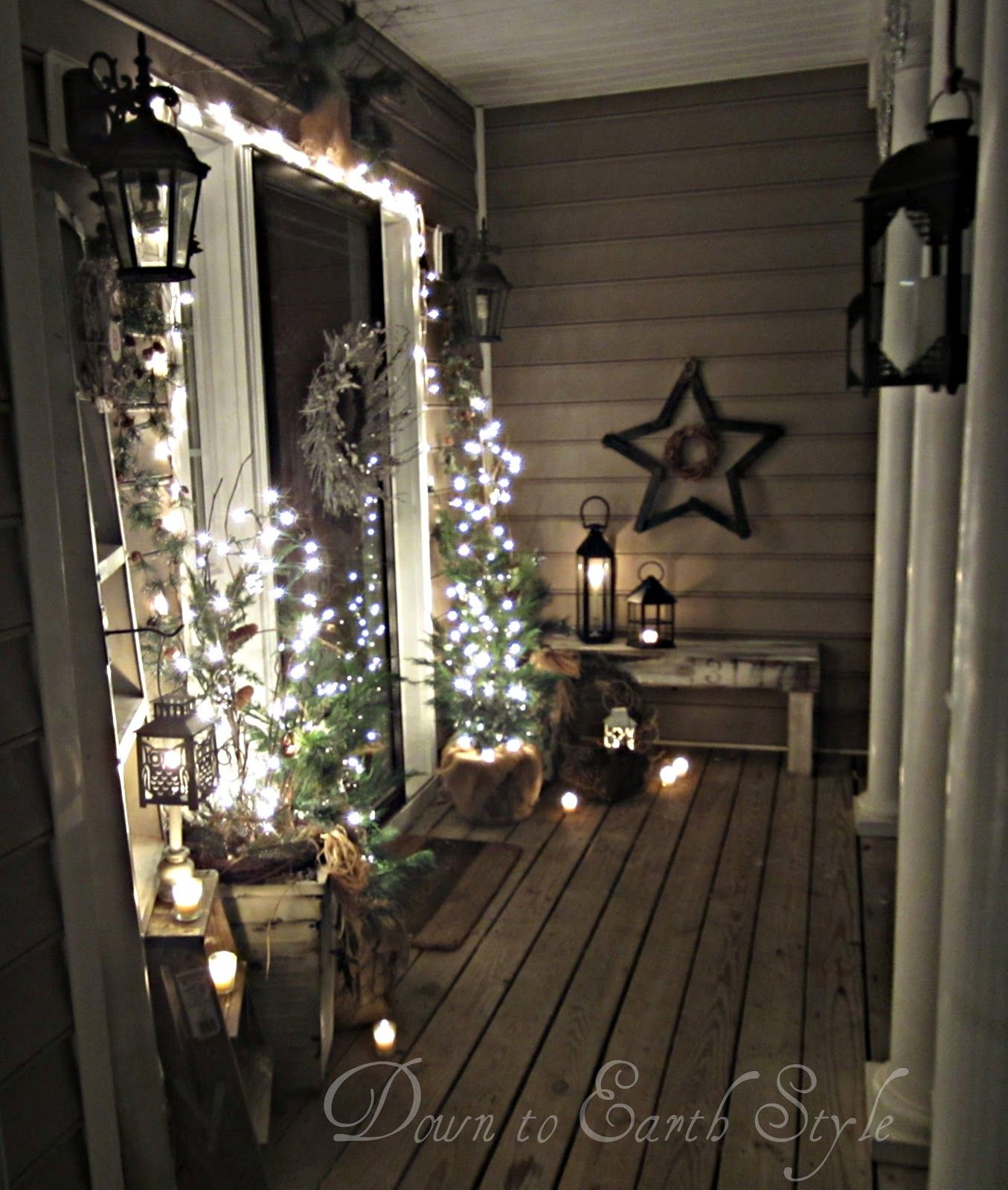 Down to Earth Style: Christmas Porch 2012