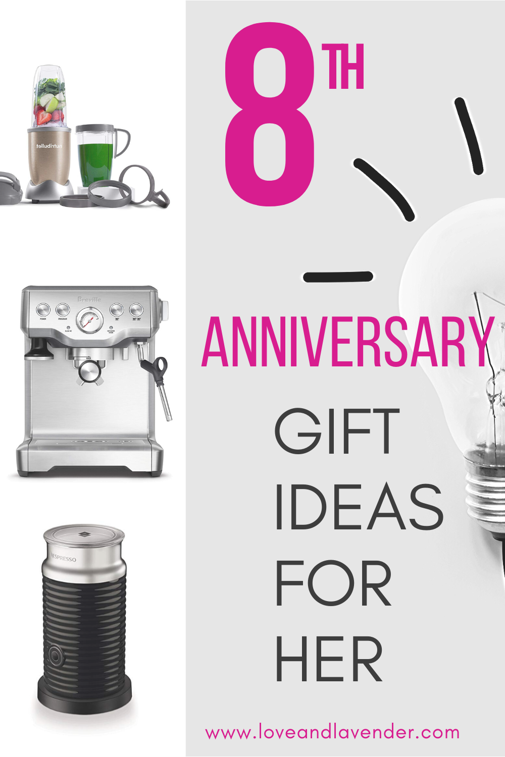 8th Anniversary Gifts (Electric Appliance) for Him & Her