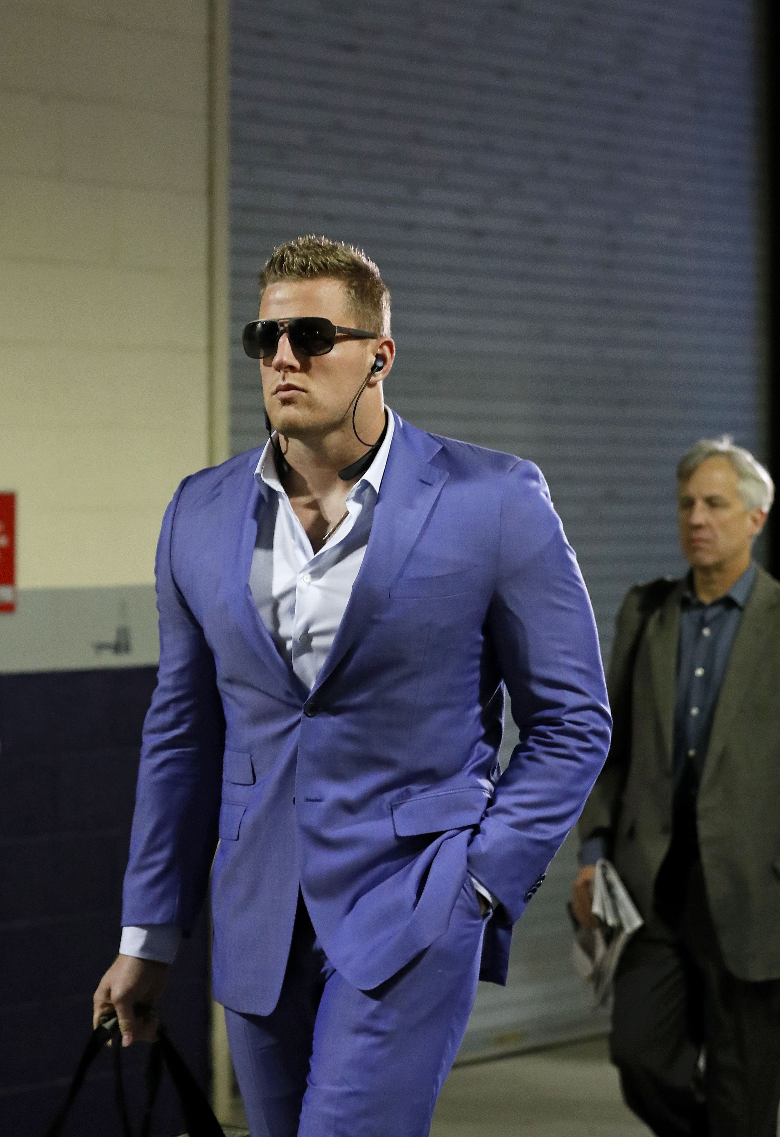 Houston Texans De Jj Watt Arrived To His Week 3 Matchup Against The