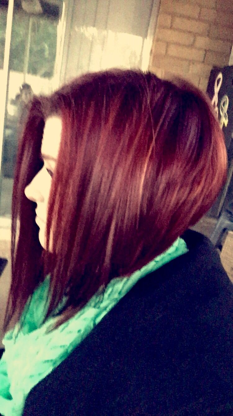 My haircut its a stacked long bob! Love it!