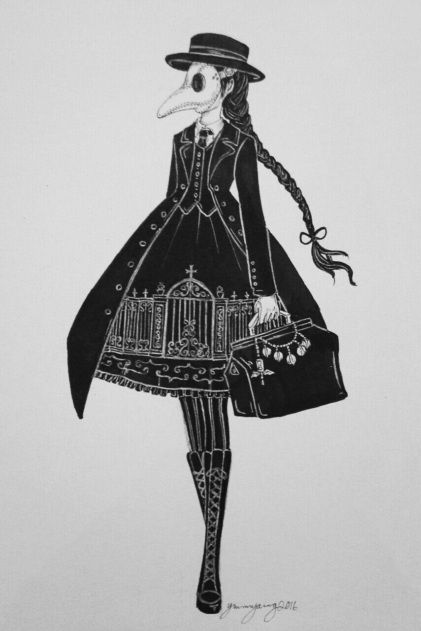 Gothic Lolita Plague Doctor Art stuff Pinterest