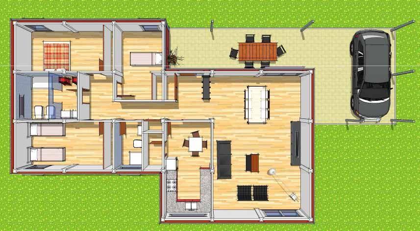 Plano casas modulares planitos pinterest autocad - Planos casas modulares ...
