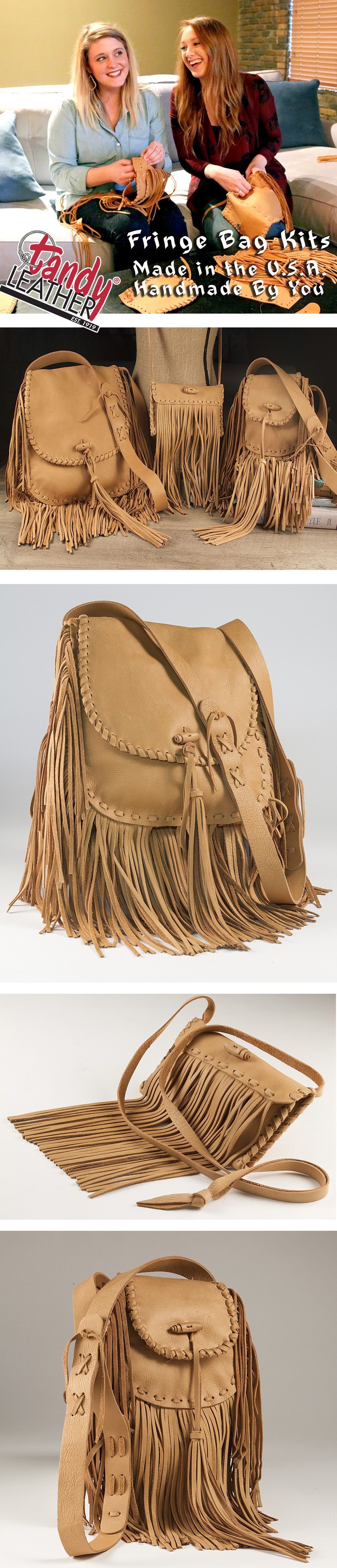 Watch Perfect DIY Leather Fringe Bag video