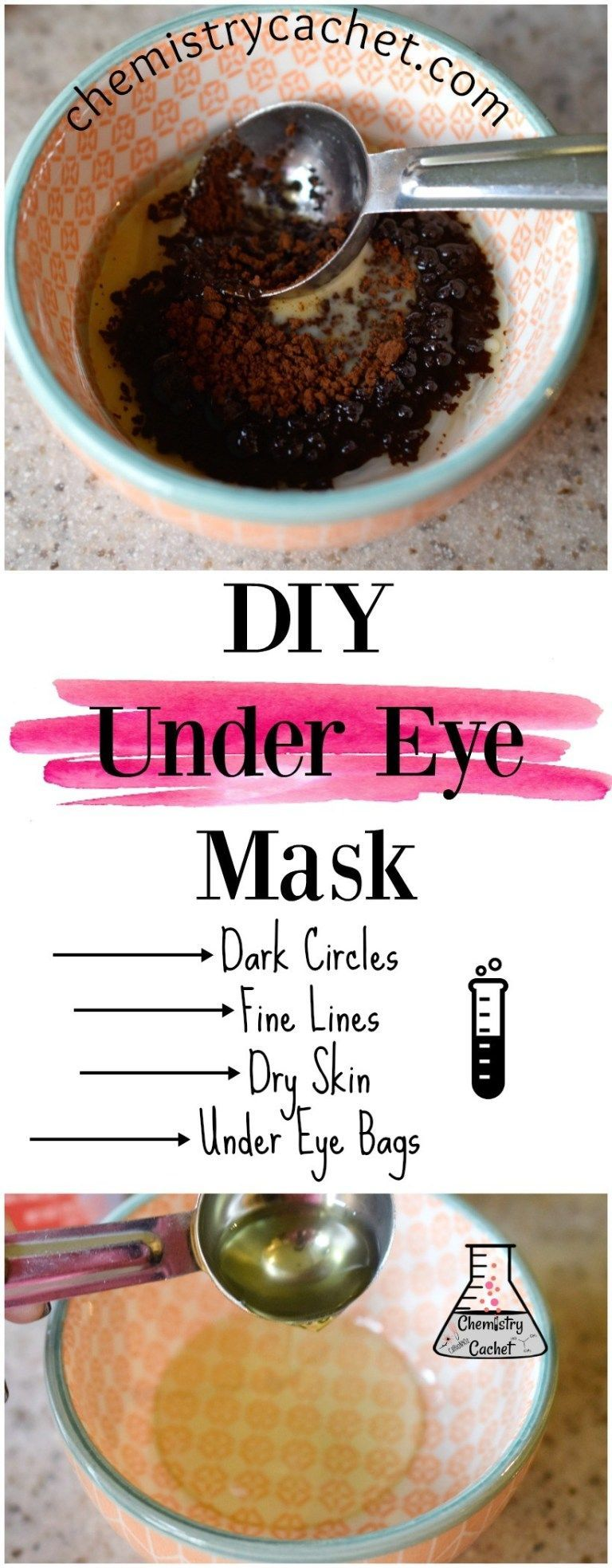 DIY Under Eye Mask for Dark Circles, Under Eye Bags, and Fine Lines #darkcircle