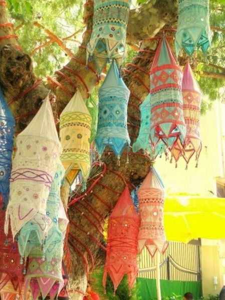 Moroccan Fabric Lanterns These Would Be Easy And Fun To