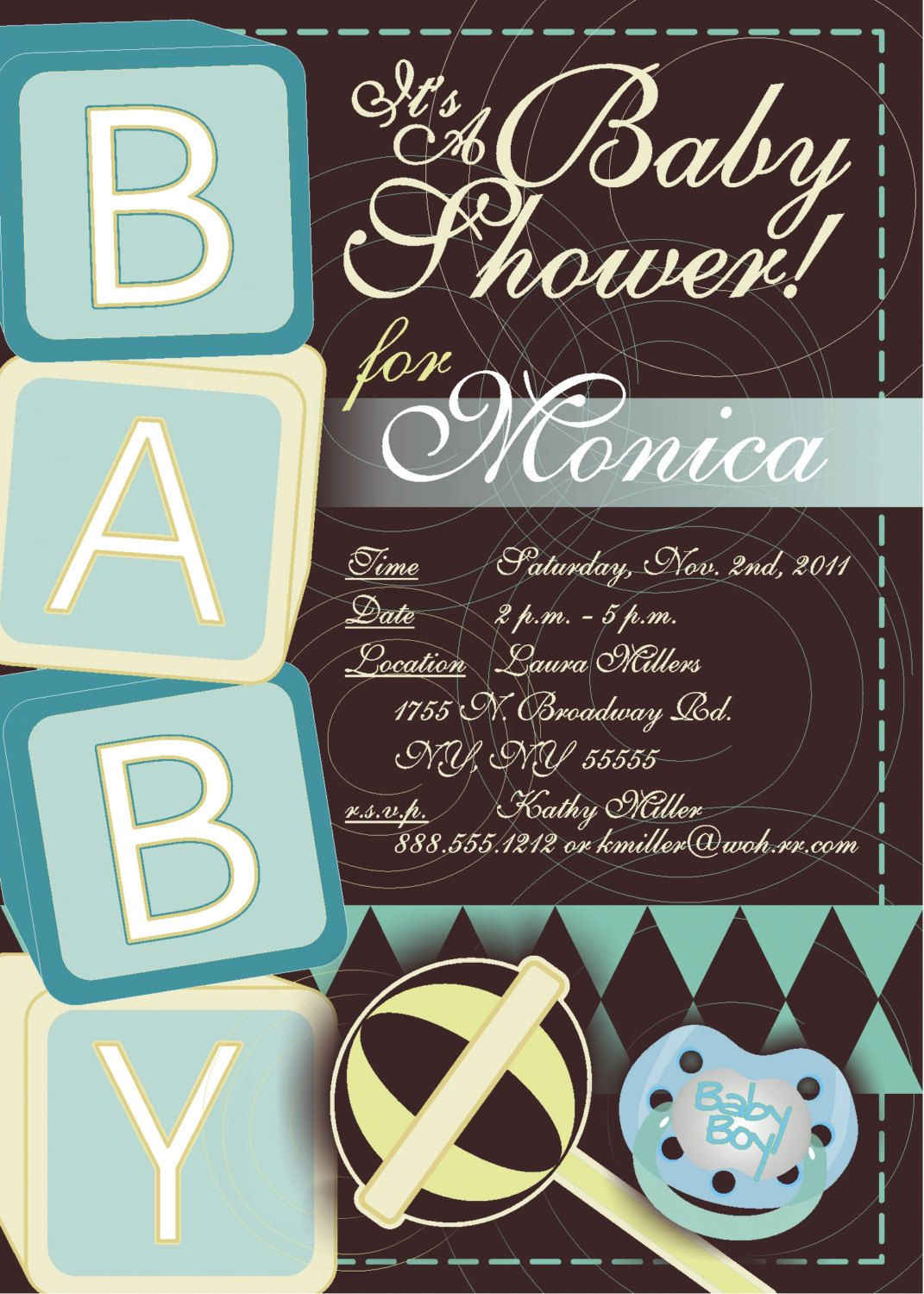 Free Printable Baby Shower Invitations For Boys | Party Time ...