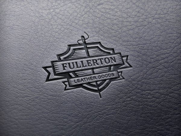 fullerton leather goods logo design by benoit taillefer via behance craft logo best logo design cool logo fullerton leather goods logo design